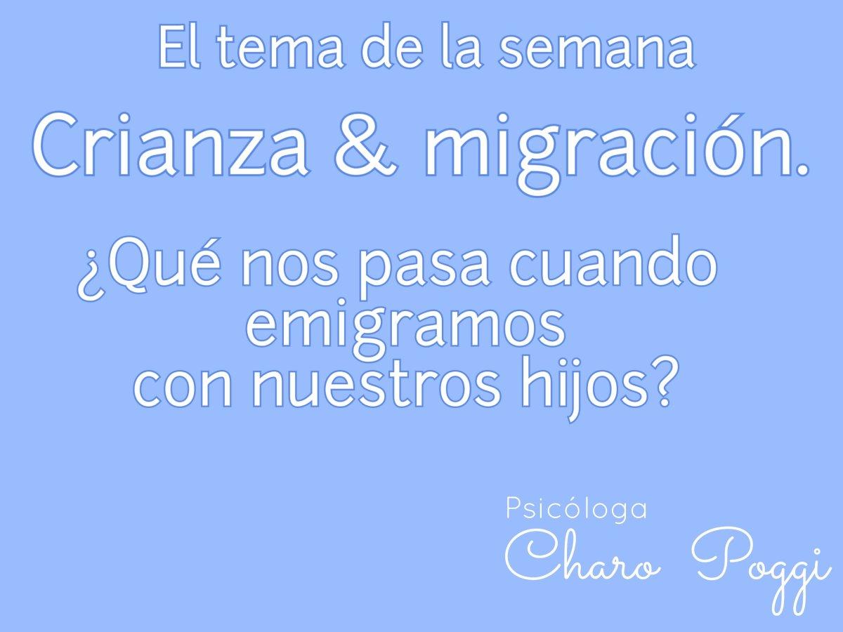 Crianza y emigración