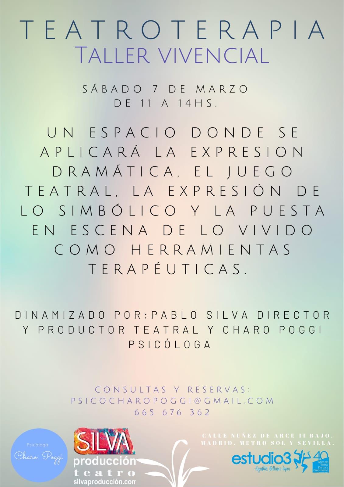 teatro terapia en madrid 7 de marzo de 2020
